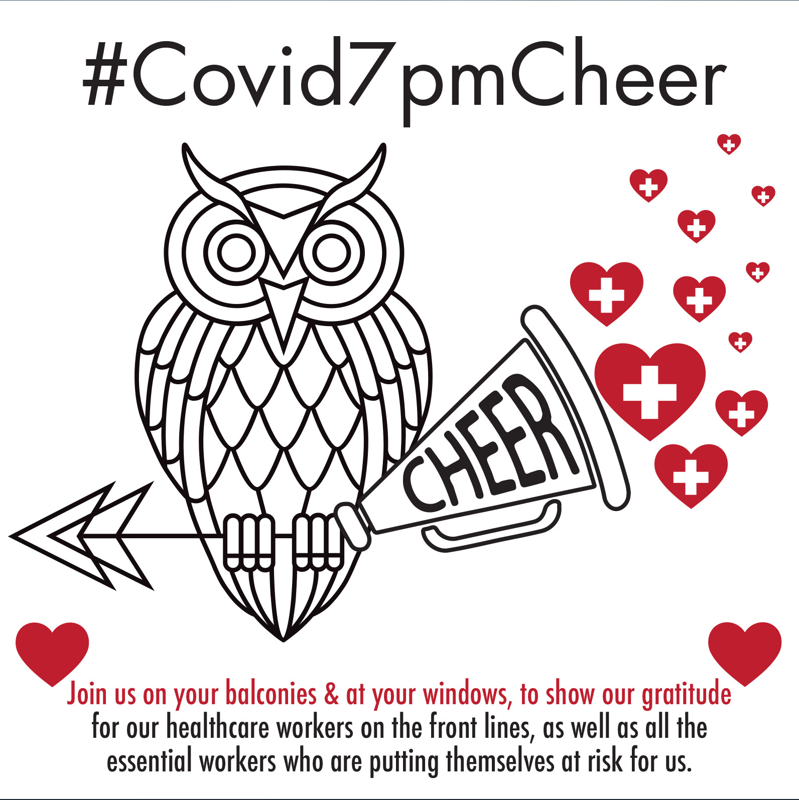 #COVID7PMCHEER